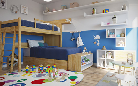 interior bedroom dormitorio chicos kids