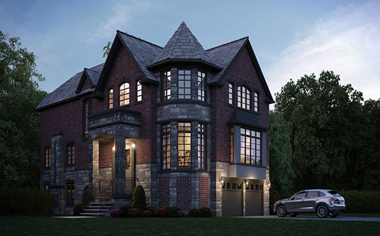 exterior outside  residence residential residencias home house casas noche night canada ontario toronto