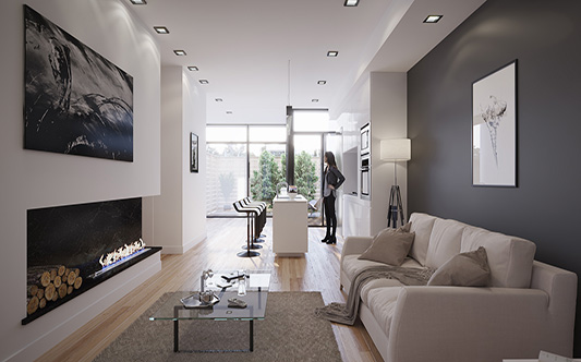 Interior Living Room toronto canada